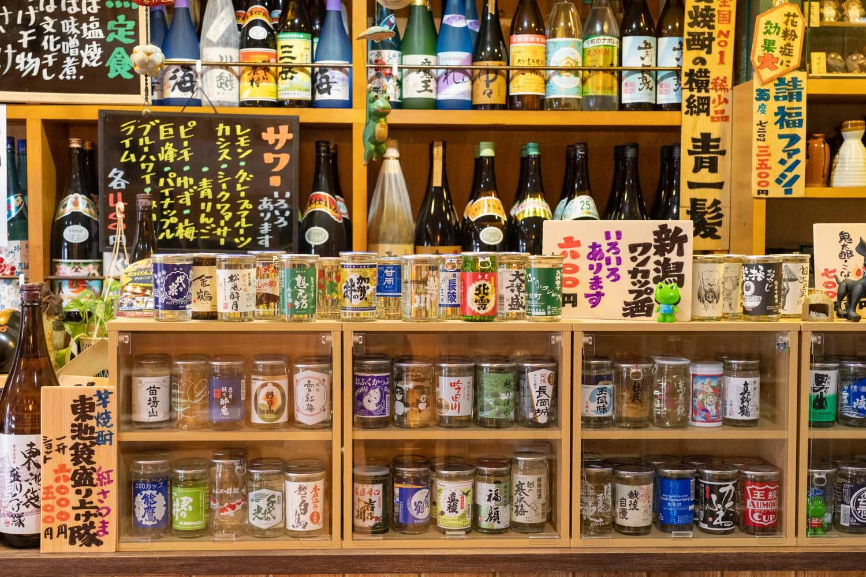 伊東食堂のお酒ラインナップ